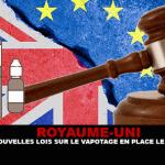בריטניה המאוחדת: החוקים האירופיים החדשים על vaping במקום 20 מאי.
