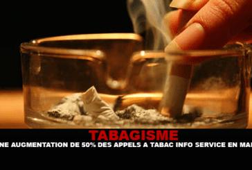 TABAGISME : Une augmentation de 50% des appels à Tabac info Service en Mars.