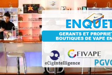 E-CIGARETTE: Result of the survey conducted on vape shops in France.