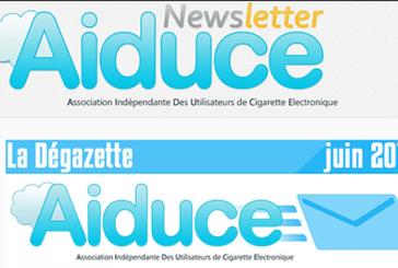 AIDUCE : L'association donne des nouvelles via sa newsletter «La dégazette»