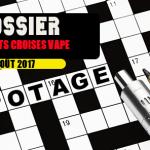 DOSSIER: Kreuzworträtsel des Vape für den Monat August!