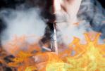 COMPAÑÍA: Quemado en segundo grado después de la explosión de su cigarrillo electrónico.