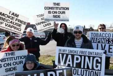CANADA: A demonstration against the new e-cigarette legislation.