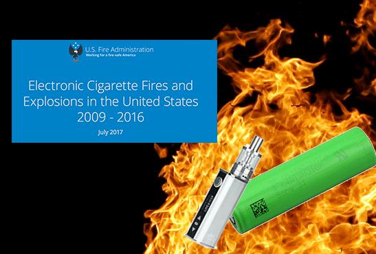 """ארה""""ב: FEMA מעדכנת את הדו""""ח שלה על פיצוצים סיגריות אלקטרוניות."""
