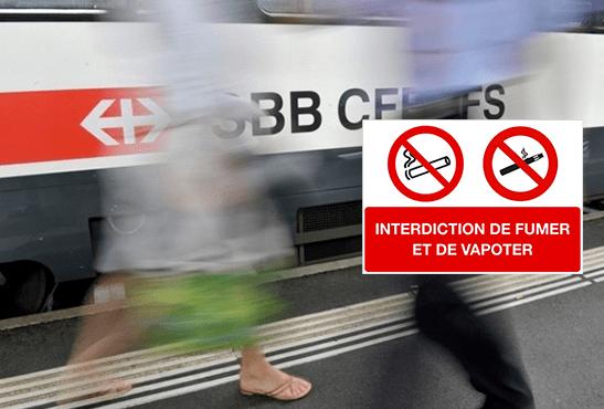 SUISSE : Le tabac et l'e-cigarette bientôt interdit dans les gares CFF.