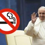 TABAC : Le pape interdit la vente de cigarette au Vatican dés 2018.