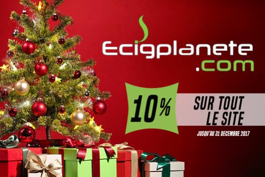 BON PLAN : 10% de remise spéciale pour Nöel sur tout le site Ecigplanete.com !