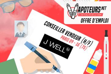 OFFRE D'EMPLOI : Conseiller vendeur (H/F) – JWELL – Paris 09 / Paris 16