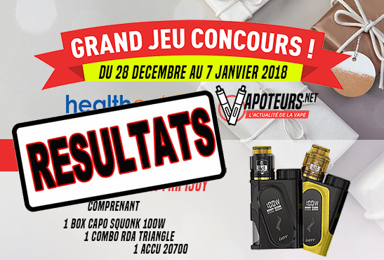 תחרות: תוצאה של המשחק הגדול Healthcabin / Vapoteurs.net