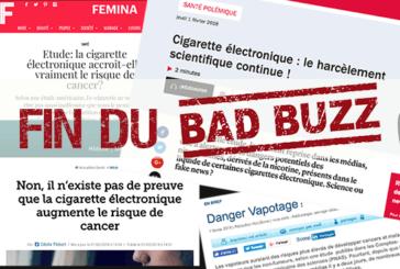 ETUDE BAD-BUZZ : Un retournement des médias en faveur du vapotage !