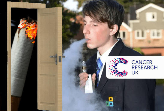 E-CIGARETTE : Cancer Research UK ne soutient pas l'hypothèse de l'effet passerelle vers le tabagisme