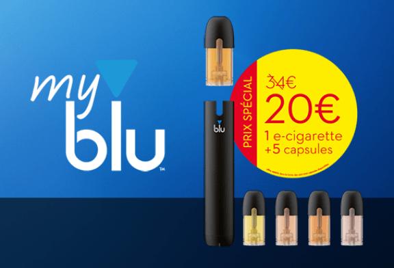 NOUVEAUTE : Découvrez le kit e-cigarette myblu grâce à une offre spéciale de lancement !