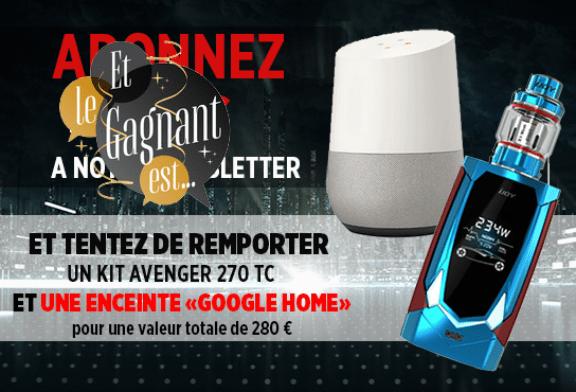 NEWSLETTER: Hier ist der Gewinner des Avenger 270-Kits und des Google Home-Lautsprechers