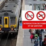 BELGIUM: An increase in verbalization of vapers in trains.