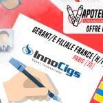 JOB AANBIEDING: Managing Partner Frankrijk (H / F) - Innocigs - Parijs (75)