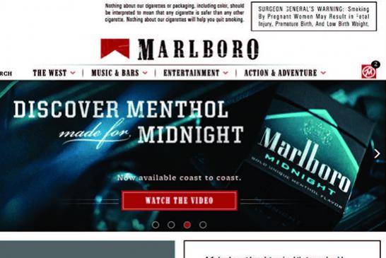 Stati Uniti: Avvisi sui siti Web dei produttori di tabacco