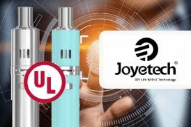 TECHNOLOGIE: Joyetech, der erste Hersteller von E-Zigaretten, der die UL 8139-Zertifizierung erhalten hat.
