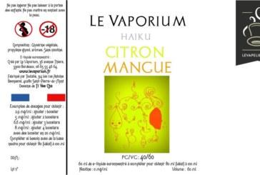 REVUE / TEST : Citron Mangue (Gamme Haiku) par Le Vaporium