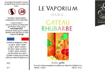 REVUE / TEST : Gâteau Rhubarbe (Gamme Haiku) par Le Vaporium