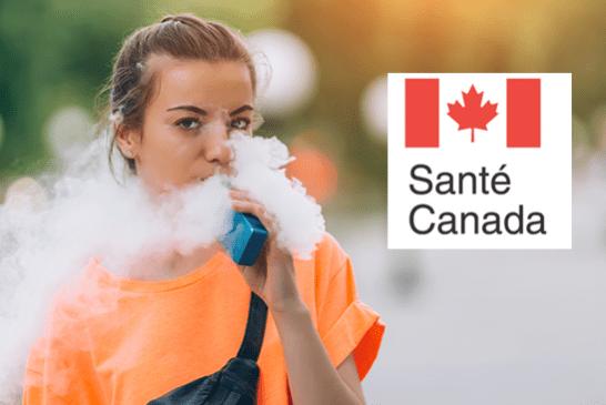 CANADA : Inquiétude de Santé Canada concernant le vapotage chez les jeunes.