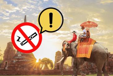 תאילנד: אזהרה חשובה לתיירים על הסיגריה האלקטרונית.