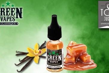 REVUE / TEST : Green's Custard (Gamme Green Vapes) par Green Liquides