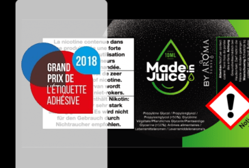 INDUSTRY: AG3M wins UNFEA Grand Prize for its e-liquid label