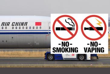 CHINA: Niet roken en vapen voor piloten in cockpits.