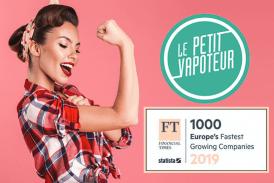 ÉCONOMIE : Le Petit Vapoteur toujours dans le classement des meilleures croissances européennes !