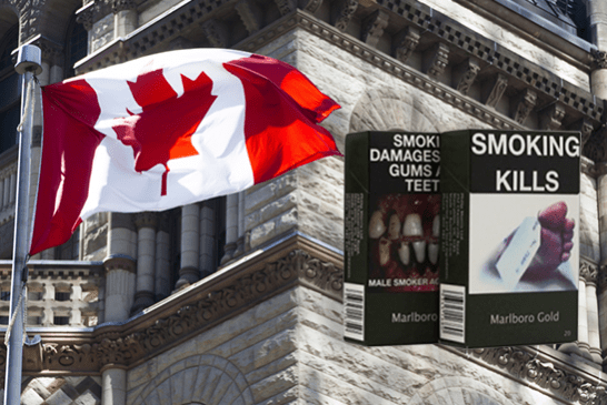 CANADÁ: El paquete neutral pronto será obligatorio para los cigarrillos ... ¡pero no para vapear!