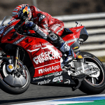 "ECONOMY: No ""Mission Winnow"" logo on Ducati bikes at Le Mans GP."