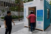 新加坡:电子烟被禁止,吸烟者在空气过滤的摊位!