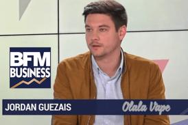ECONOMY: Jordan Guezais (Olala Vape) defends the e-cigarette on BFM Business.