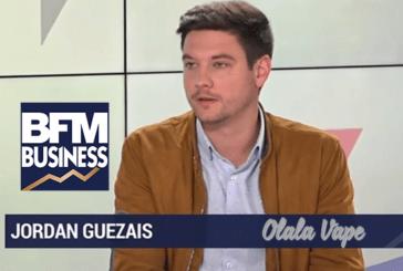 ÉCONOMIE : Jordan Guezais (Olala Vape) défend l'e-cigarette sur BFM Business.