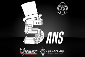 PRESS RELEASE: Le Vapelier and Vapoteurs.net are celebrating their 5th anniversary!