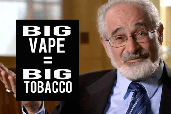 UNITED STATES: For Stanton Glantz, Big Tobacco is currently taking control of the vape.