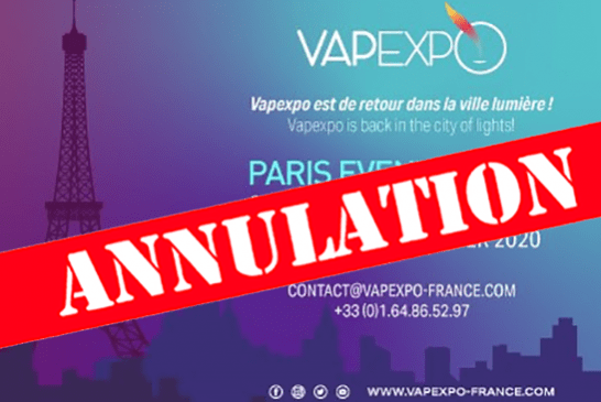 CULTURE: Cancellation of Vapexpo 2020 in Paris