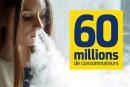 社会:随风飘动,有60万消费者开始使用电子烟!