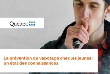 CANADA: Prevenzione dello svapo tra i giovani segnalata da Public Health