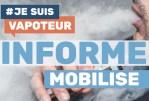 """MILITANT : """"Je suis vapoteur"""", un support pour informer, mobiliser et défendre la vape  !"""