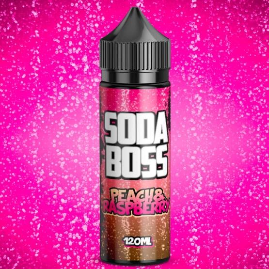 Soda Boss Peach Raspberry 100ml short fill e liquid