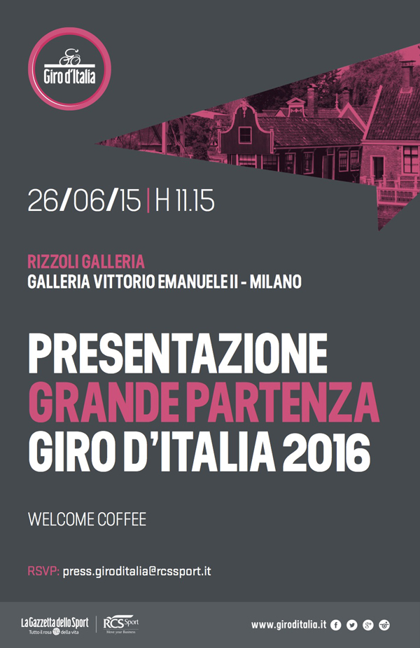 Presentazione Giro d'Italia 2016