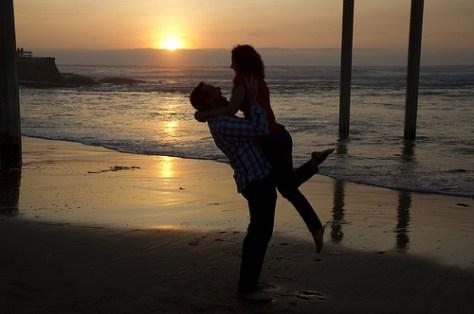 Love under the Ocean Beach pier