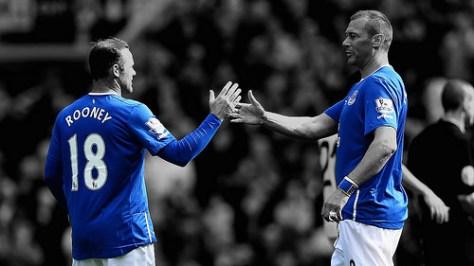 Wayne Rooney & Duncan Ferguson