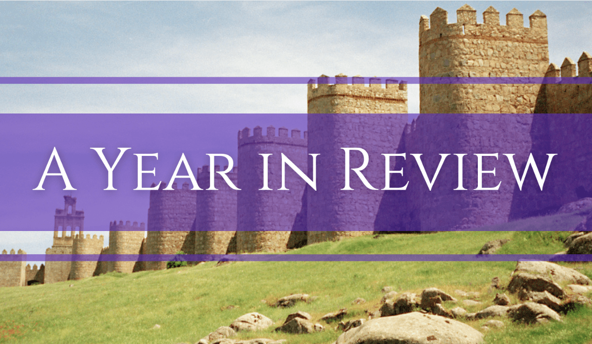 Text reads A Year in Review