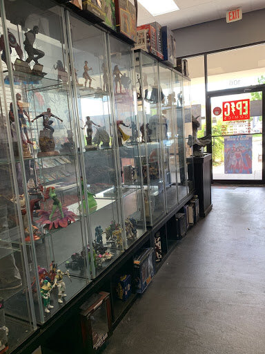 Massive wall of figurines behind glass