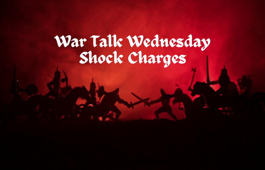 text reads War Tolk Wednesdays Shock Charges