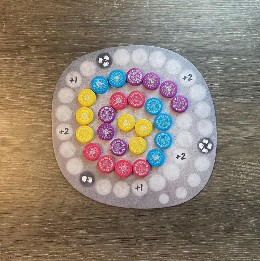 Mandala Stone tiles in a swirl