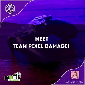 Text reads: Meet Team Pixel Damage