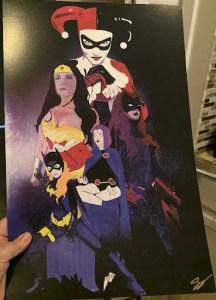 Print featuring the ladies of DC Comics